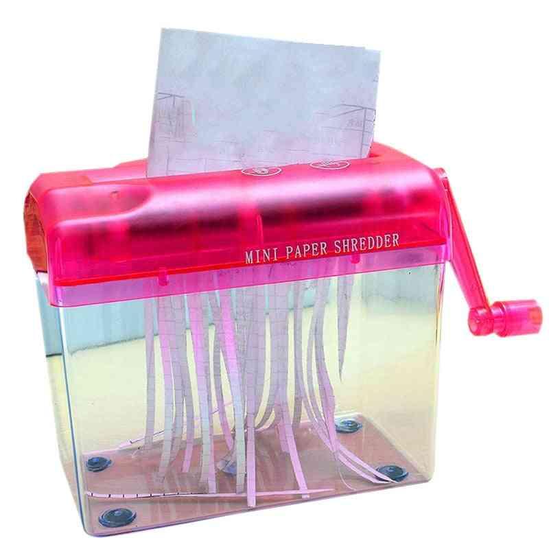 Mini Hand Portable A6 Manual Shredder & Documents Paper Cutting Tool