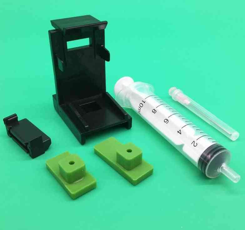 Ink Cartridge, Clamp Clip, Pumping Ink Refill Tool With Syringe Needles