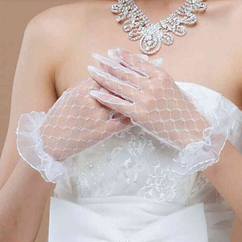 Short Lace, Bridal Party Gloves Accessories