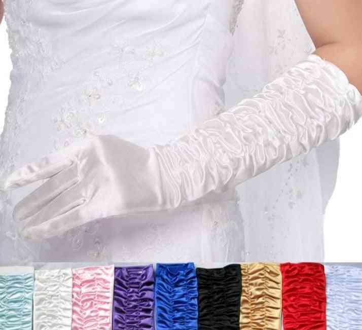 Bride Bridal Gloves, Long Satin Elegant Glove