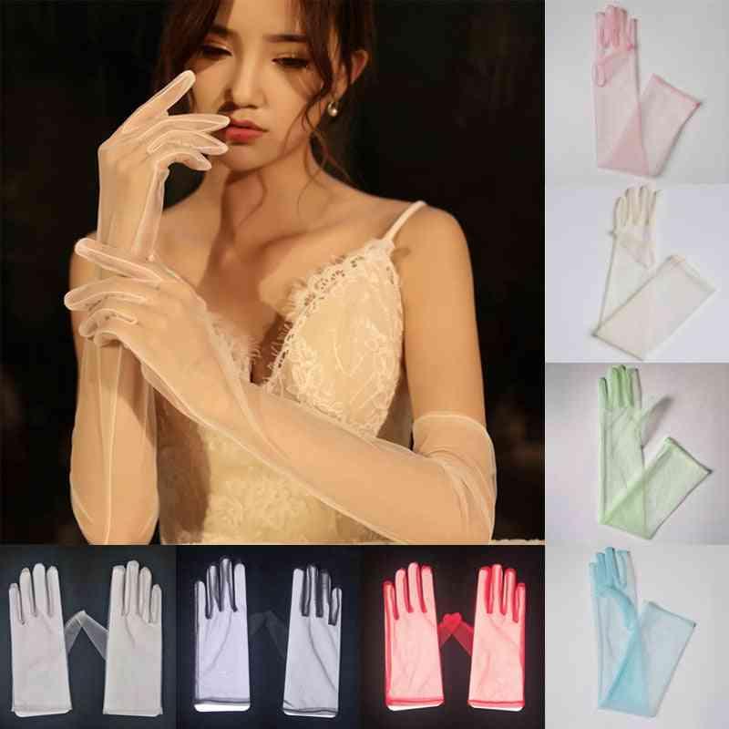 Sheer Tulle Gloves, Full Finger Glove