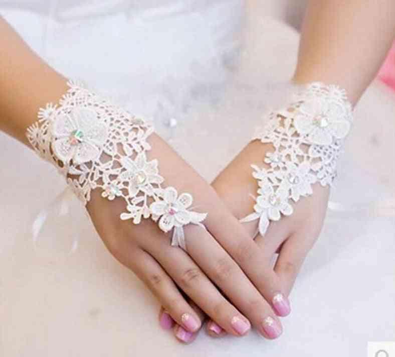 Beaded Lace Fingerless Gloves