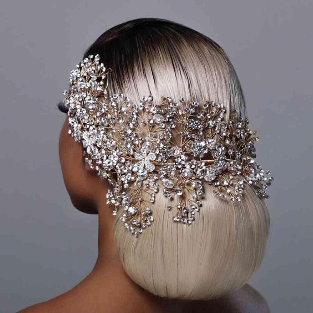Bride Hair Accessories, Rhinestone Tiara