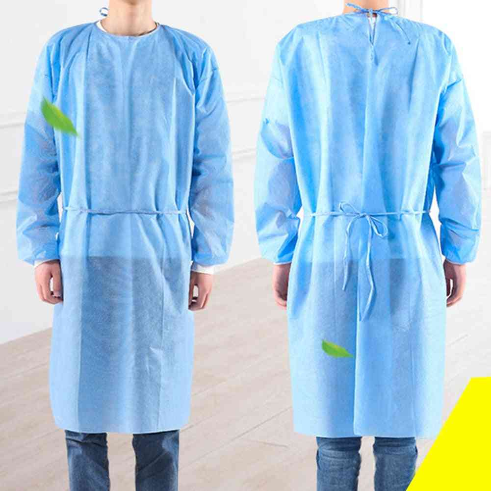 Disposable Isolation, Protection Gown Suit With Masks, Gloves