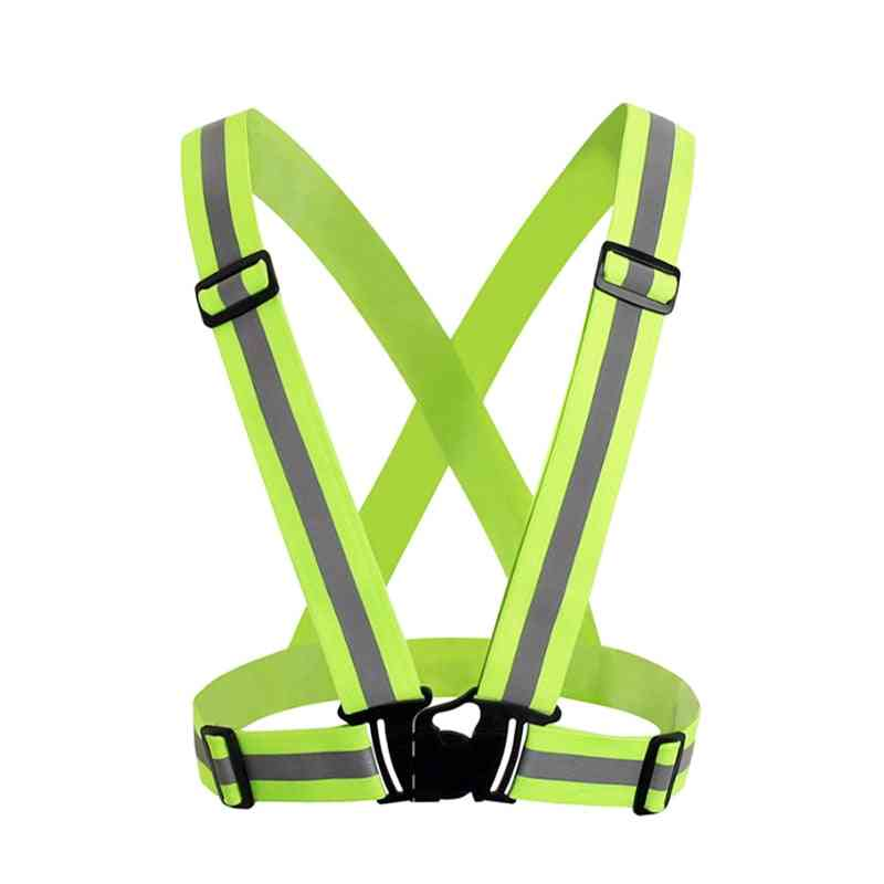 High Visibility Unisex Outdoor Reflective Elasticity Safety Vest Fit Harnesses