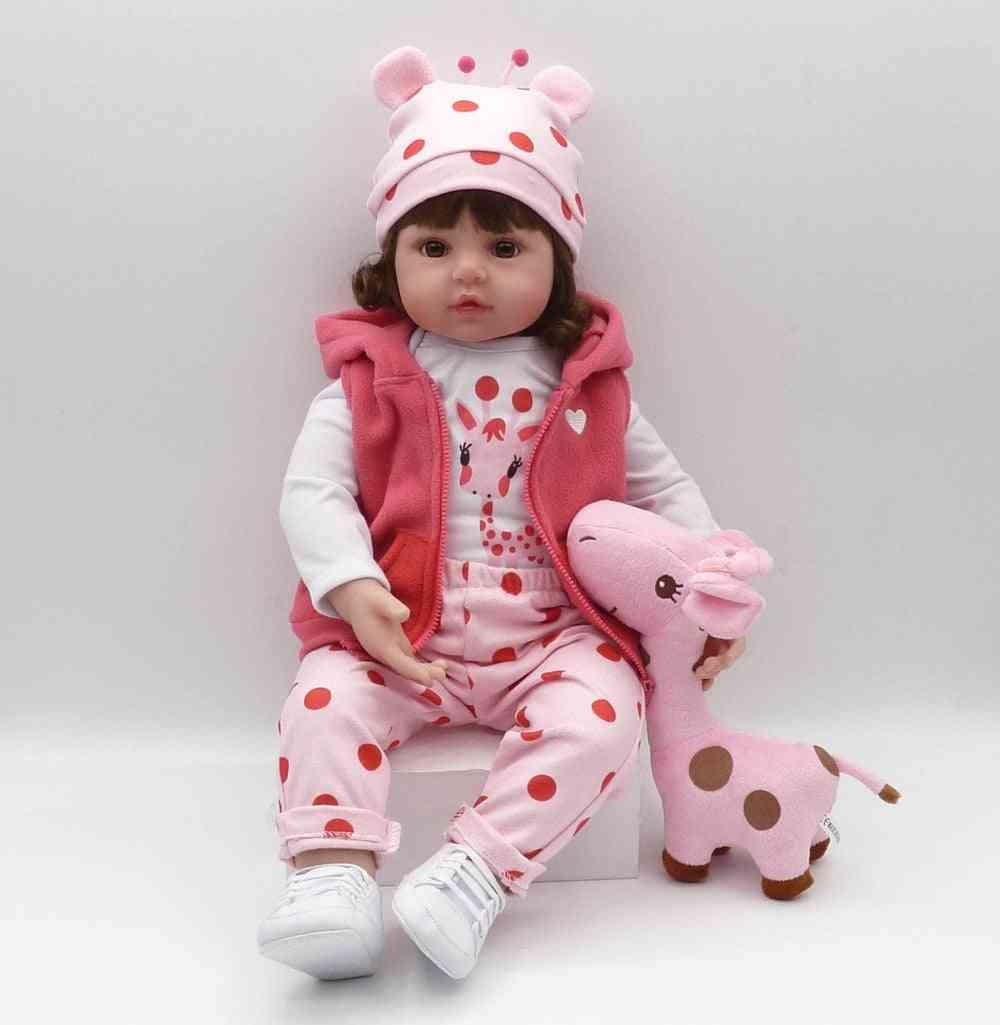 Toddler Silicone Reborn Baby Dolls, Soft Body Lifelike Menina, Christmas Surprice Girl
