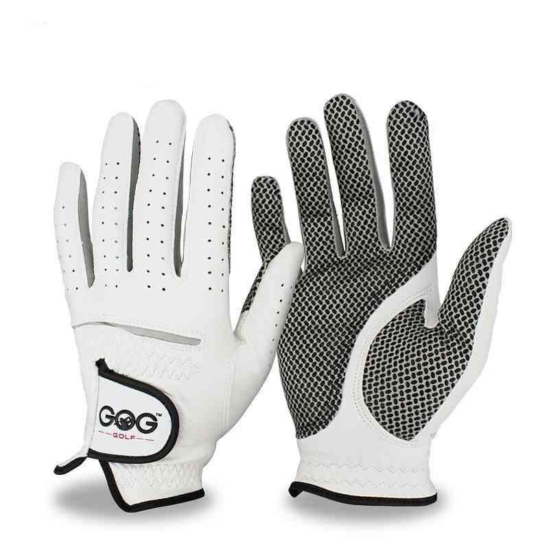 Men's Left & Right Hand Soft Breathable Pure Sheepskin Golf Gloves