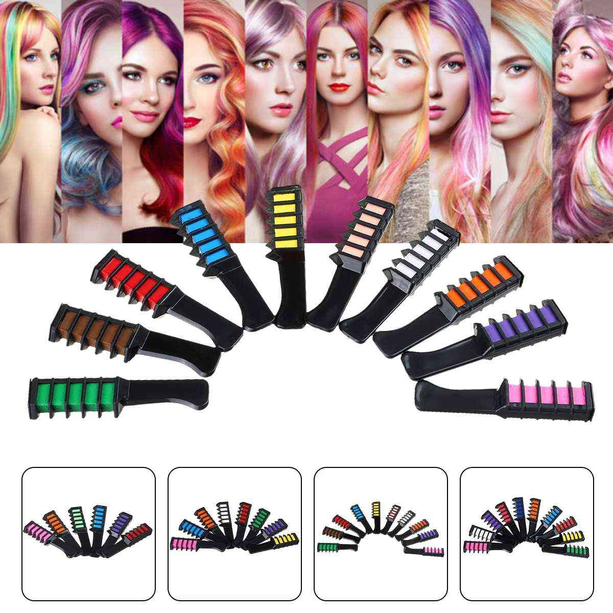 Temporary Washable Hair Makeup Set Comb