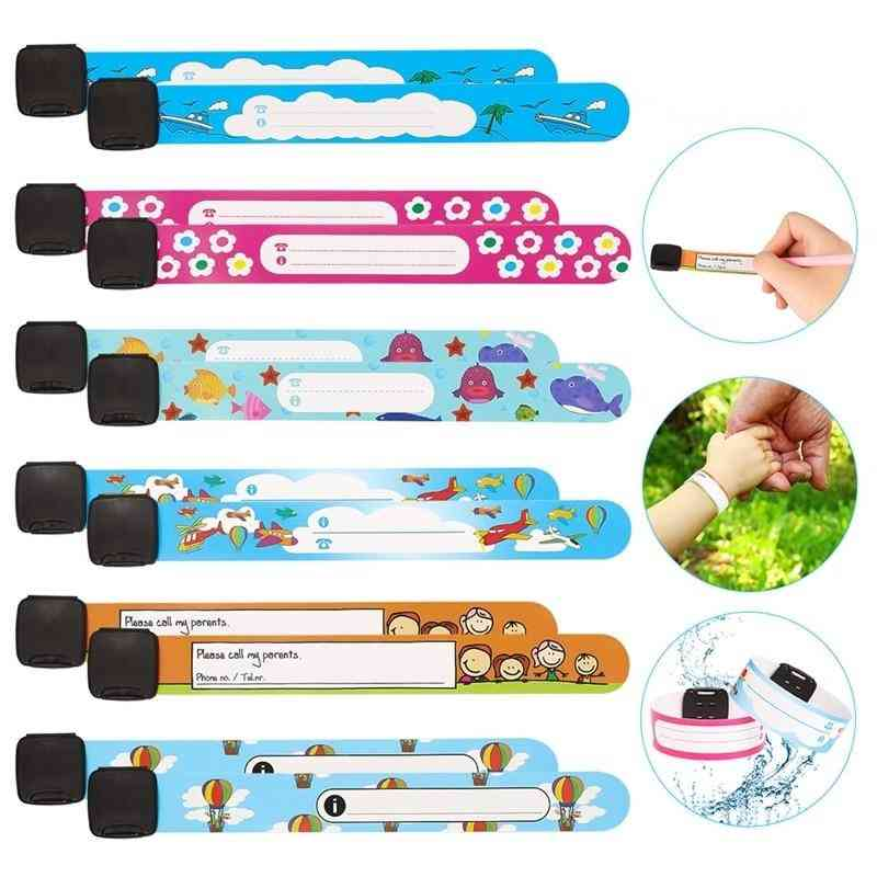 Children Travel Outdoor Safe Anti-lost Wristband Safety Recognition Bracelet