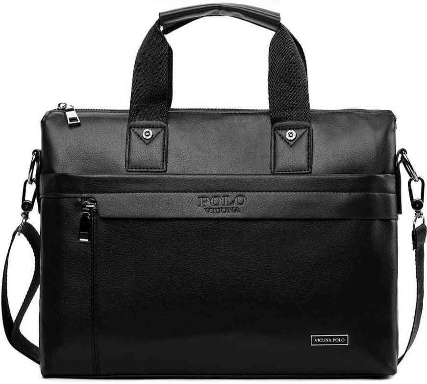 Simple Dot Pattern, Leather Casual Briefcase Shoulder Bags's