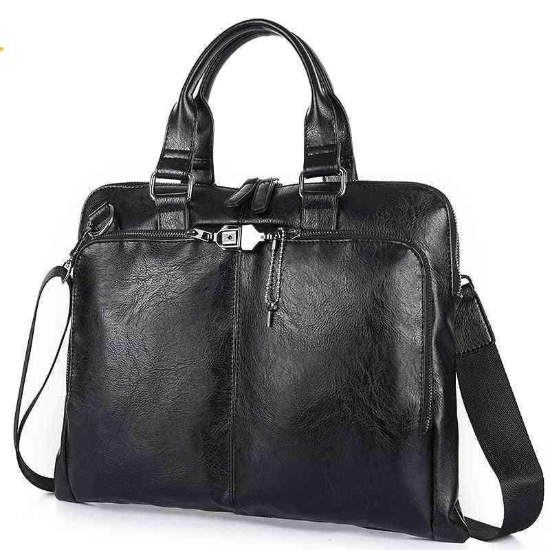 Business Briefcase Leather, Handbag And Shoulder Bag