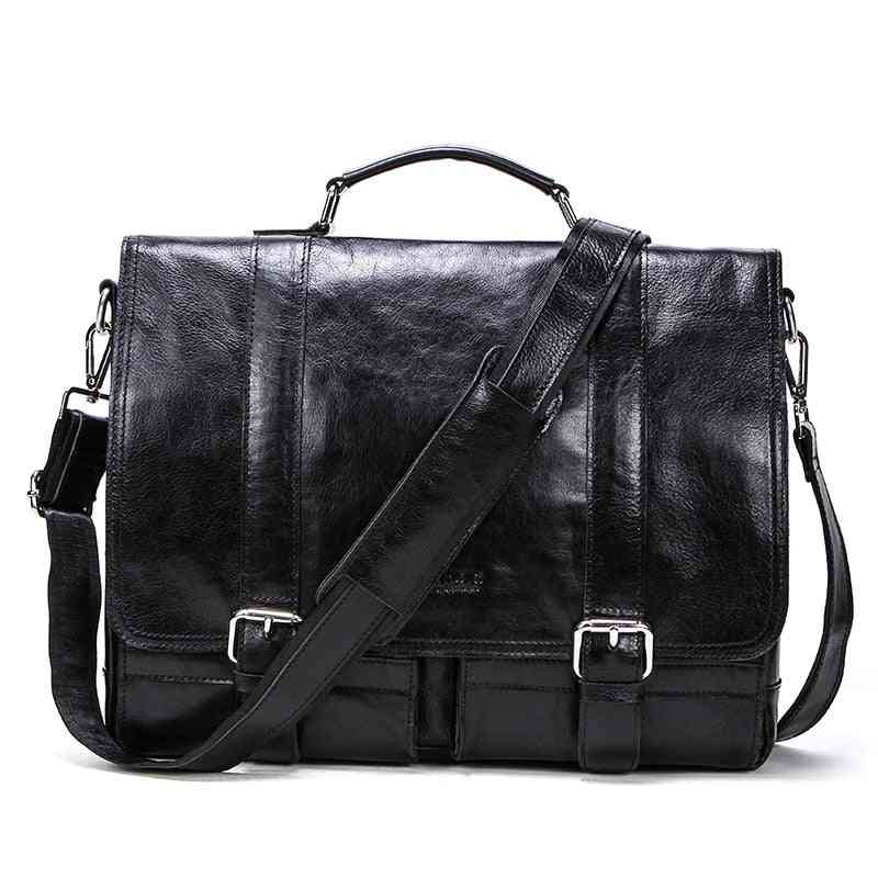 Men's Briefcase, Genuine Leather Business Handbag