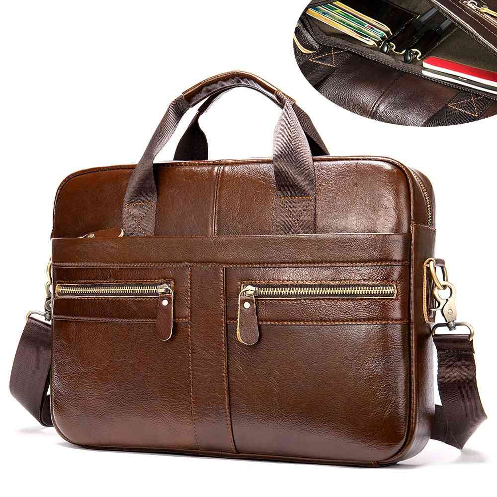 Men's Genuine Leather Briefcase For Laptop