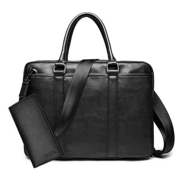 Luxury Leather, Business Briefcase, Laptop & Shoulder Bag