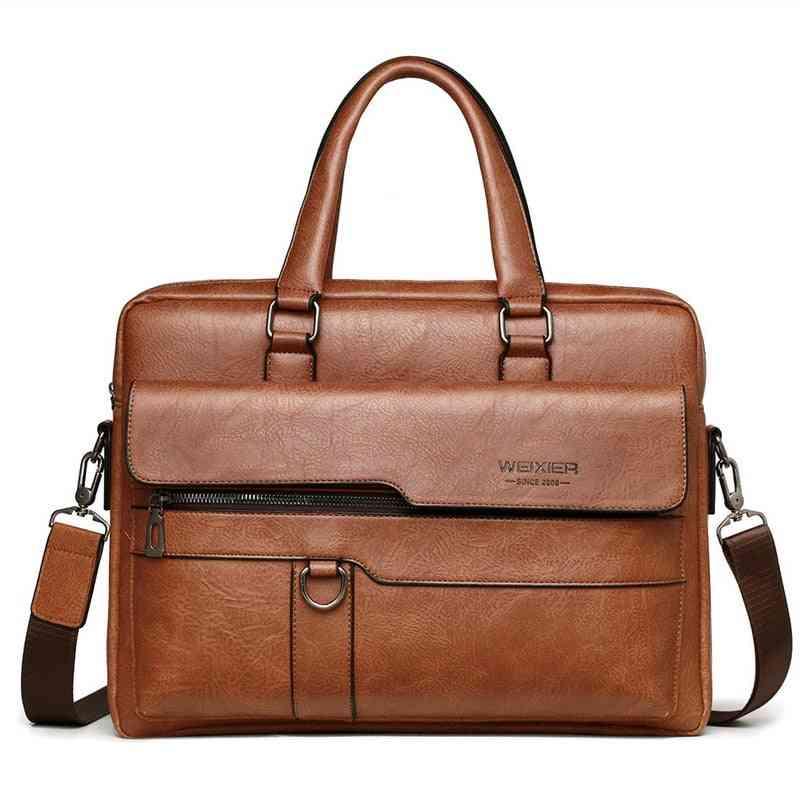 Leather Black Business Briefcase, Handbags