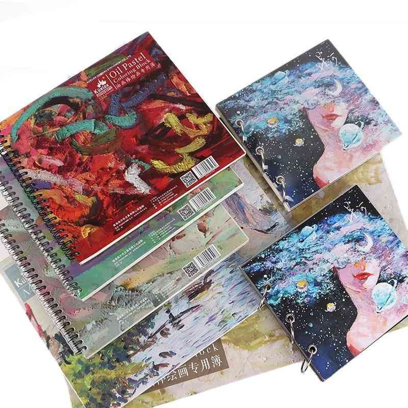 Oil Painting Pastel Coil Wireless Binding Special Book