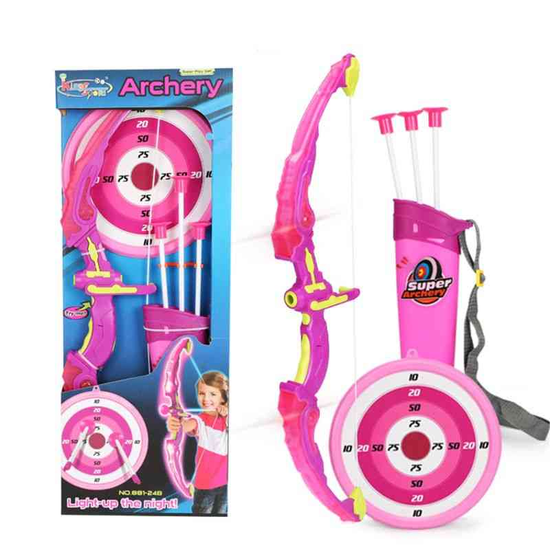 Light Up Archery Bow And Arrow Toy Set With Suction Cup