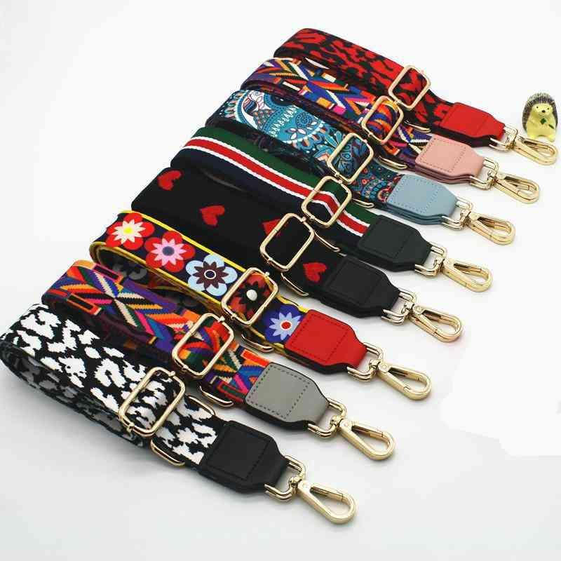 Adjustable Bag Strap Handbag, Belt Wide Shoulder Bags