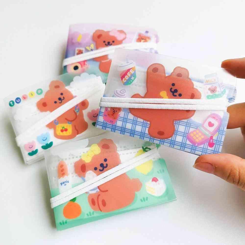 Cute Bear Fold Pockets Household Storage Bag And Cartoon Coin Purse / Case