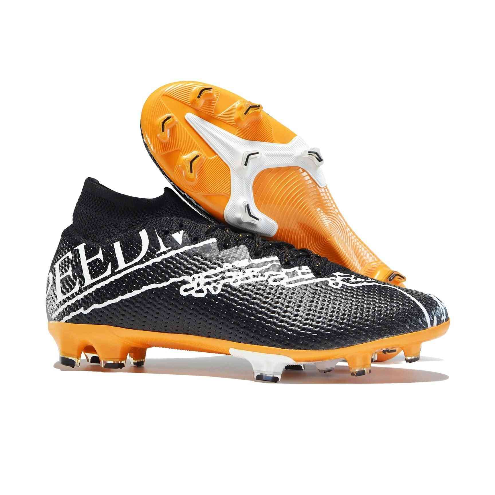 Football Boots, Training Professional Soccer Cleats High Ankle Sport Shoes
