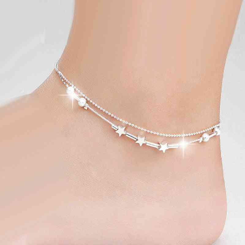 European Fashion Woman Anklet Chain