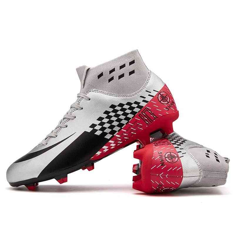 High Ankle Soccer Soft Groud Football Shoes
