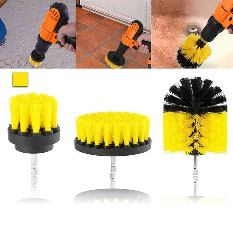 Drill Power Scrub, Clean Brush For Leather Plastic, Furniture Car Interiors, Cleaning