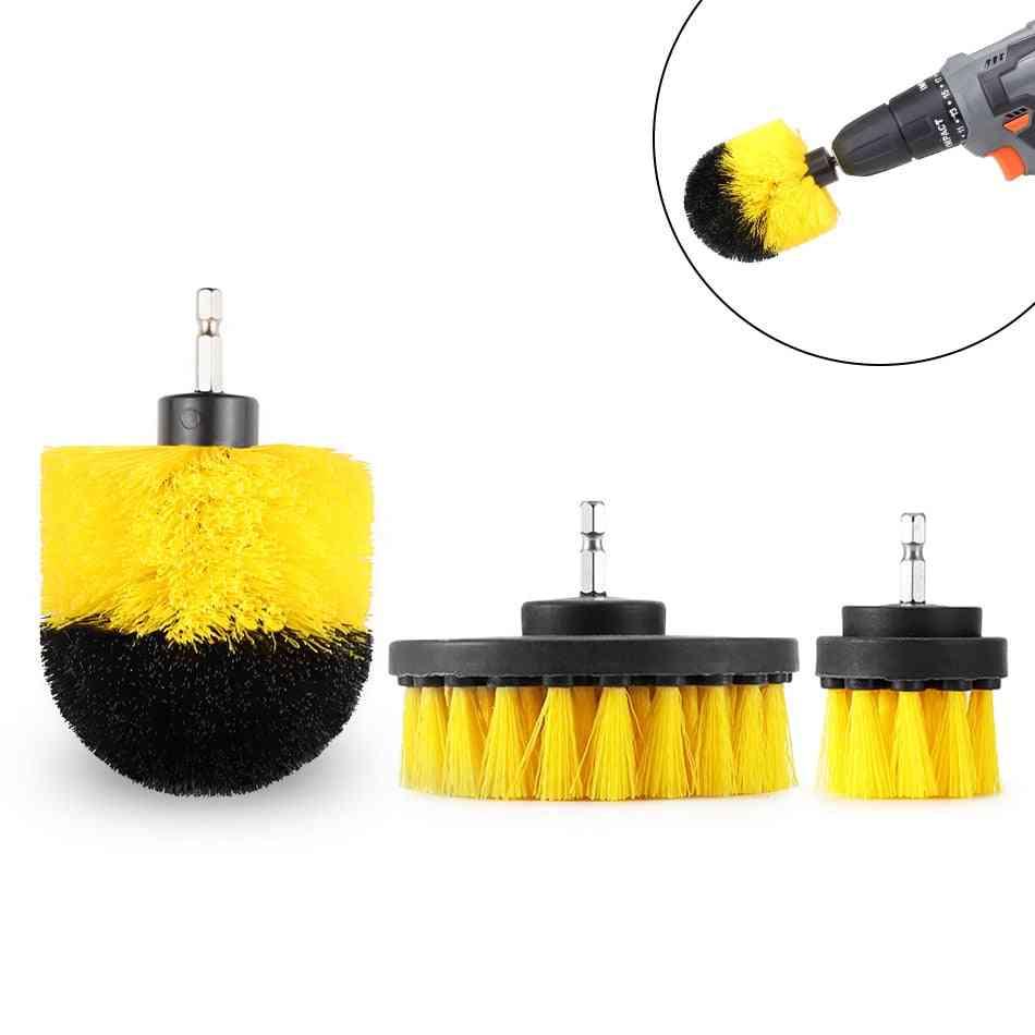 Electric Drill Brush, Power Scrubber, Stiffness Bristles, Bathroom & Shower Cleaning
