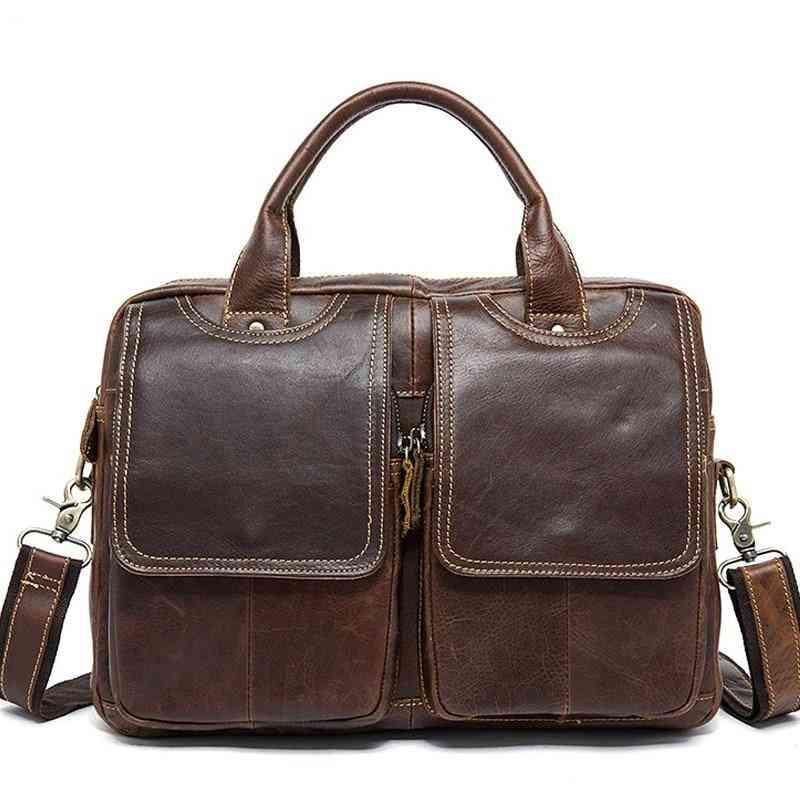 Soft Handle Leather Bag
