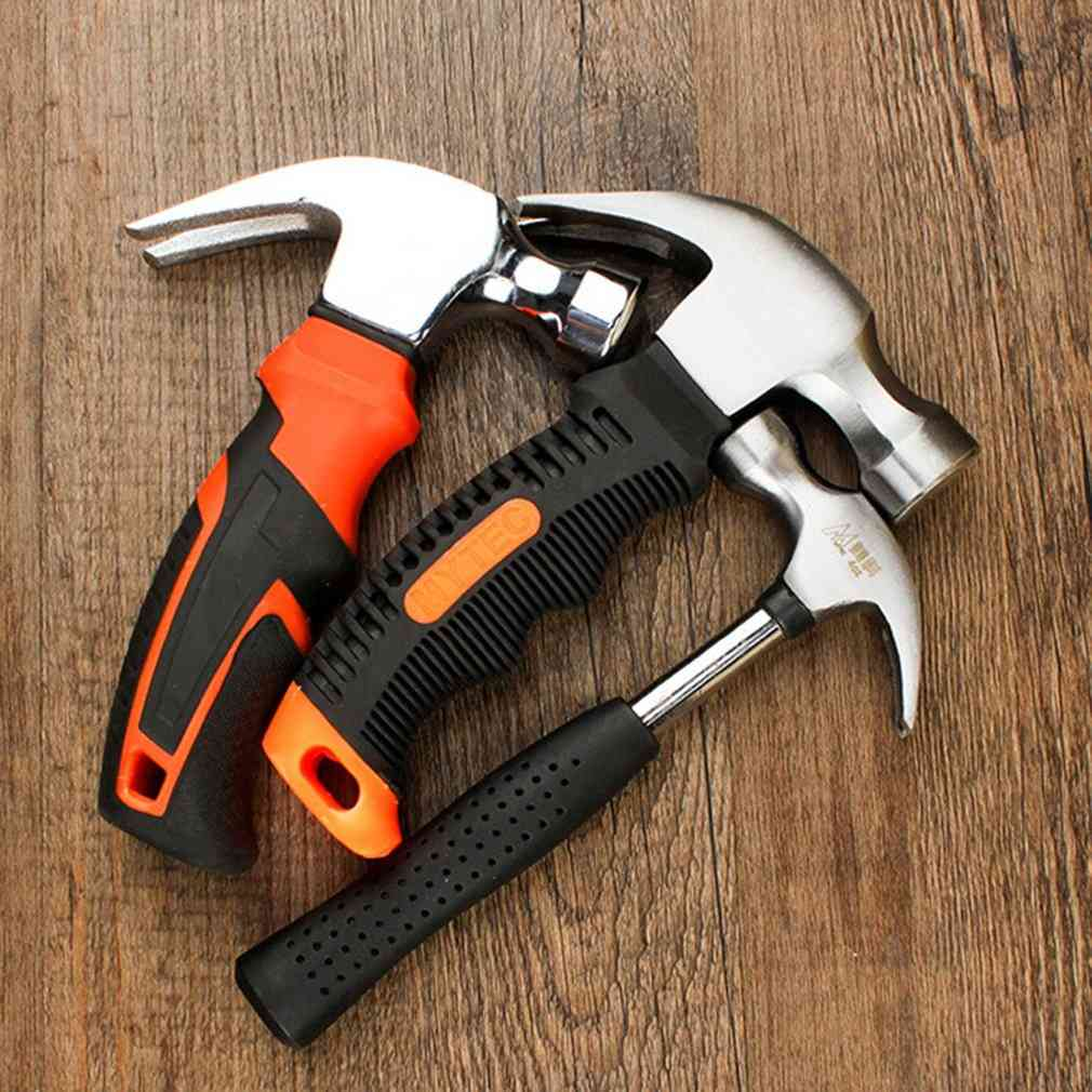 Round Head Plastic Handle Magnetic Claw Hammer For Woodworking