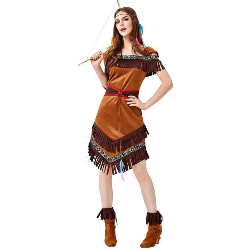 Native Indians Princess Goddess Of Tribe Role-playing Costume Dress