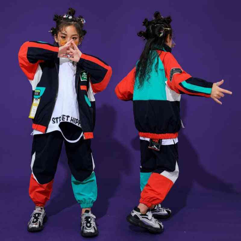 Cool Hip-hop, Top Pullover Pocket, Running Dance, Costume Casual Pants For,