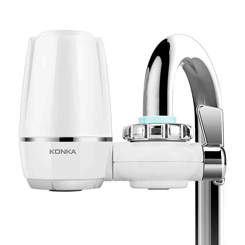 Mini Water Filter Purifier, Kitchen Faucet Washable Ceramic Percolator