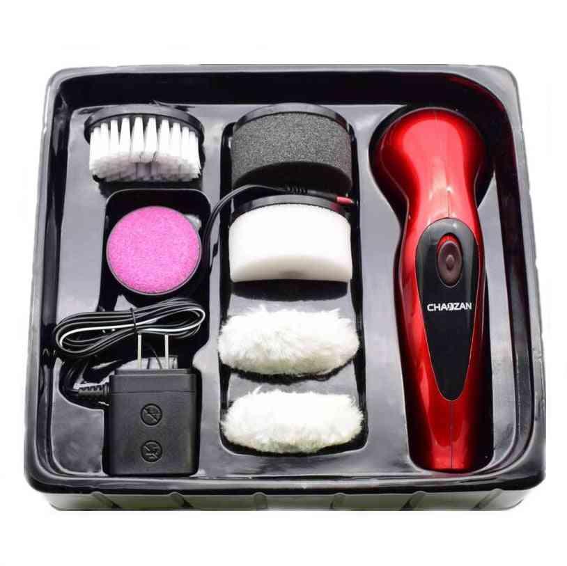 Portable Handheld Shoe Polishing Machine, Rechargeable Automatic Electric Brush Shine Polisher