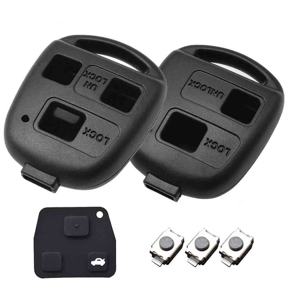 2/3 Button Pad Switch Remote Car Key Shell Case