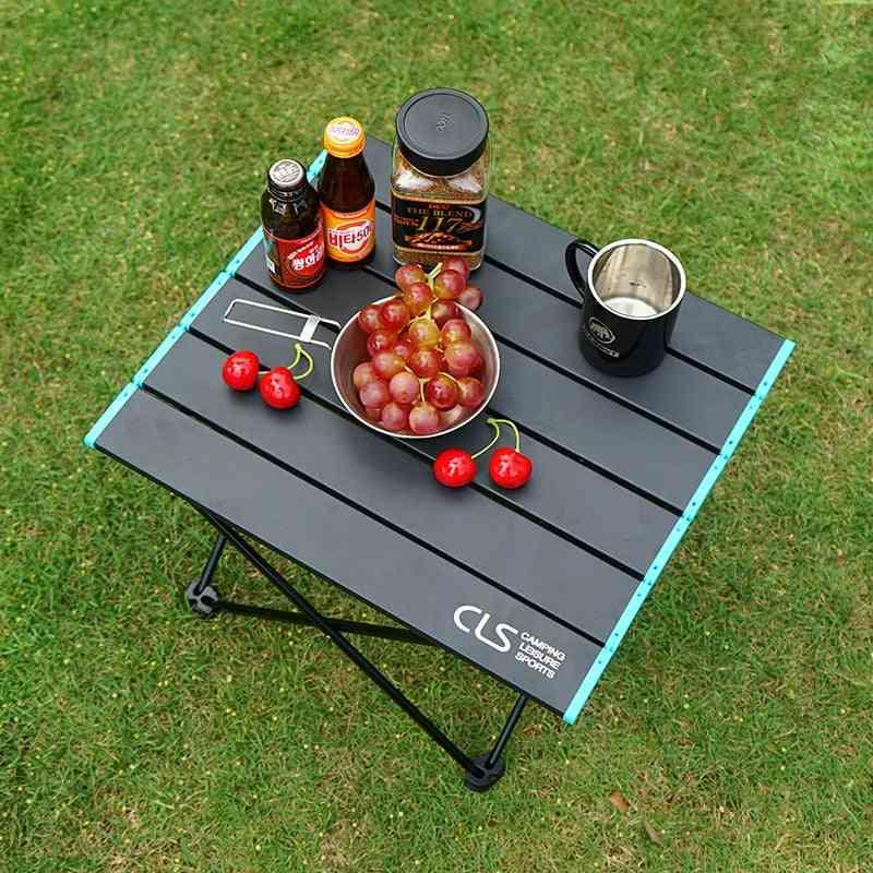 Portable Outdoor Mini Folding Table Aluminum Alloy Collapsible Desk