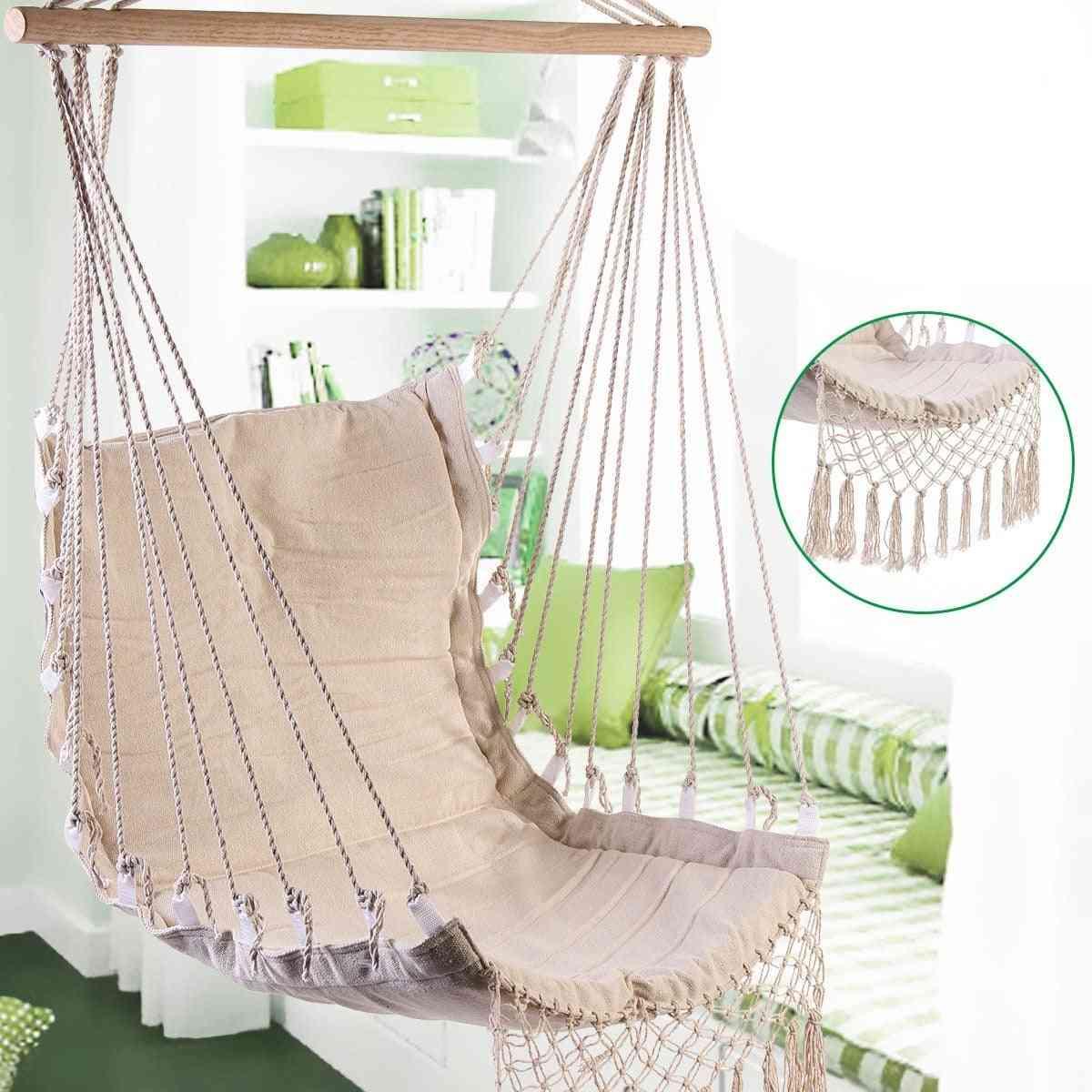 Nordic Style- Deluxe Hanging, Swinging Single Chair For Outdoor/indoor Garden Hammock