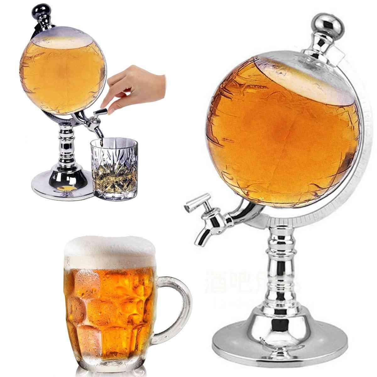 Mini Globe Shape Design, Home Night Club, Beverage Liquor, Dispenser Machine