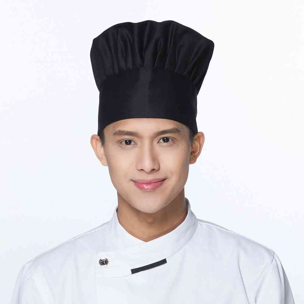 Adjustable Elastic Striped Plain Hats For Kitchen Chef