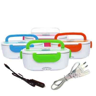Dual Use Car Heating Lunch Box Thermostat Food Warmer Container Mini Rice Cooker
