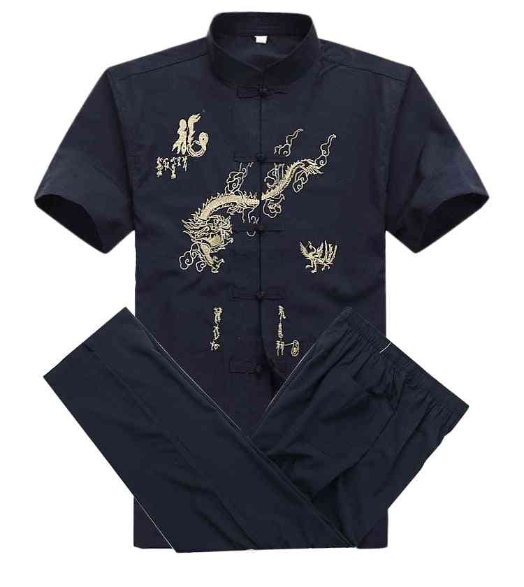 Cotton Kung Fu, Embroidery Short-sleeve, Shirt & Pant