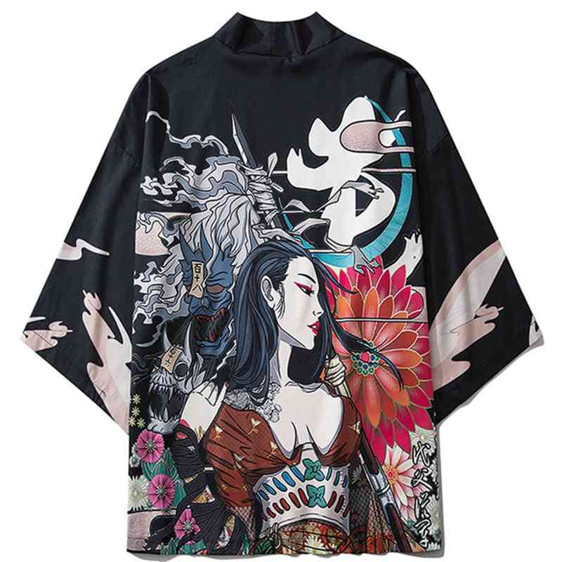 Japanese Style Casual Streetwear, Thin Robe Clothes's