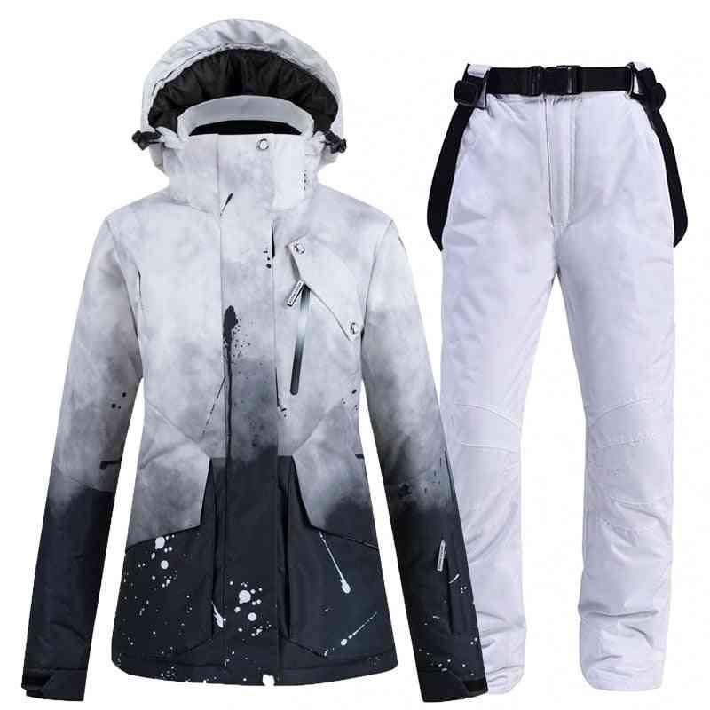 Women's Windproof, Waterproof Breathable Warm Jackets, Ski Pants