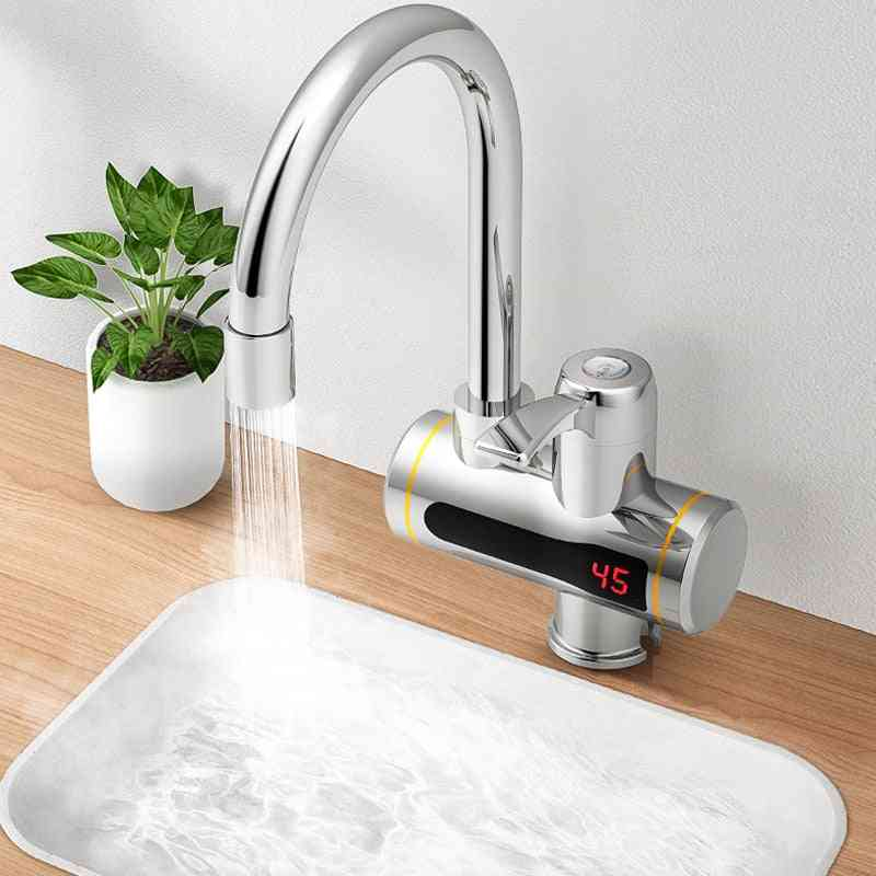 Instant Tankless Electric Water Heater, Faucet Heating Tap With Led Temperature Display