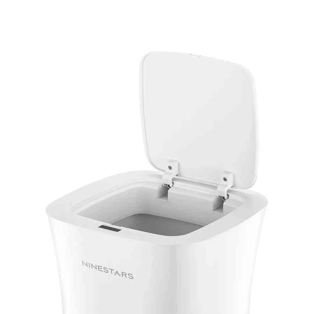 Waterproof Dustbin, Smart Touchless, Trash Bin Can (white)