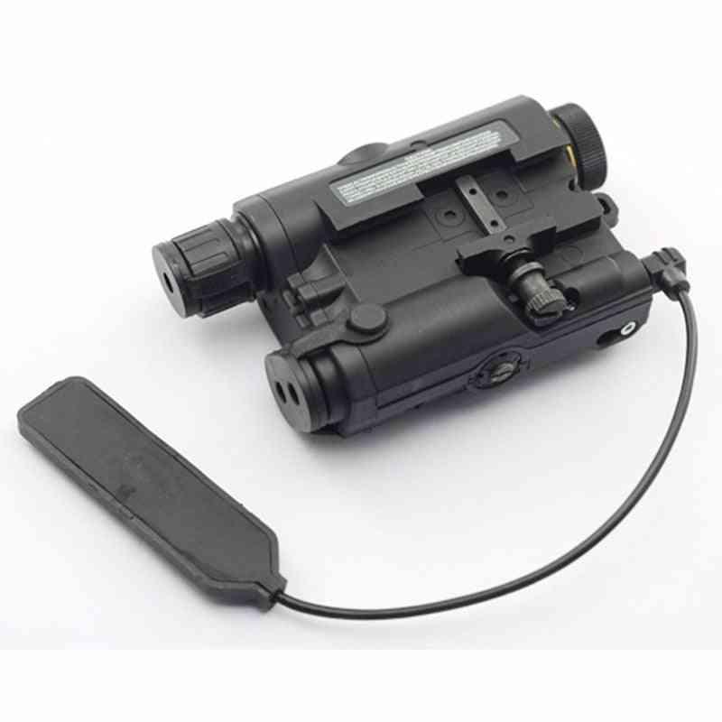 Airsoft An/peq-15 Red Dot Laser White Led Flashlight