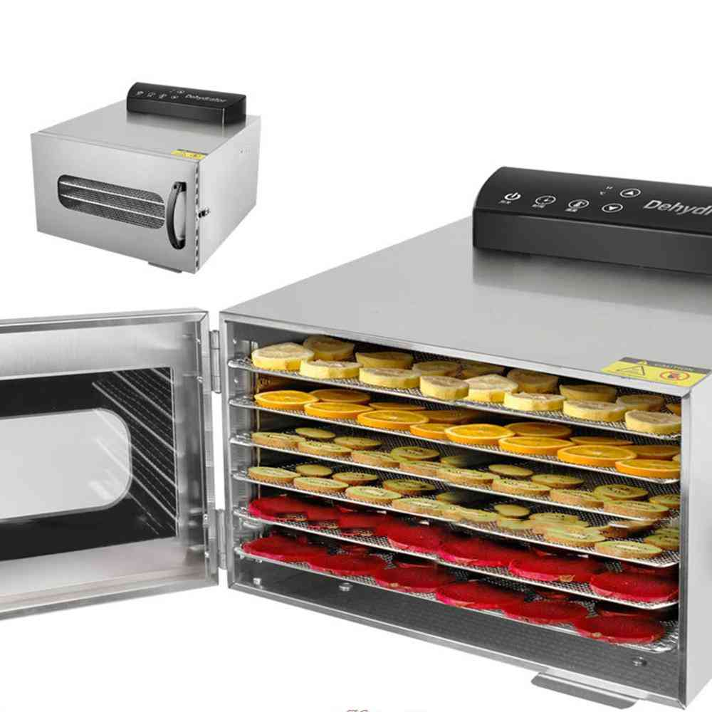 Commercial Professional Fruit Food Dryer, Stainless Steel, Vegetable Pet Meat, Air Electric Dehydrator