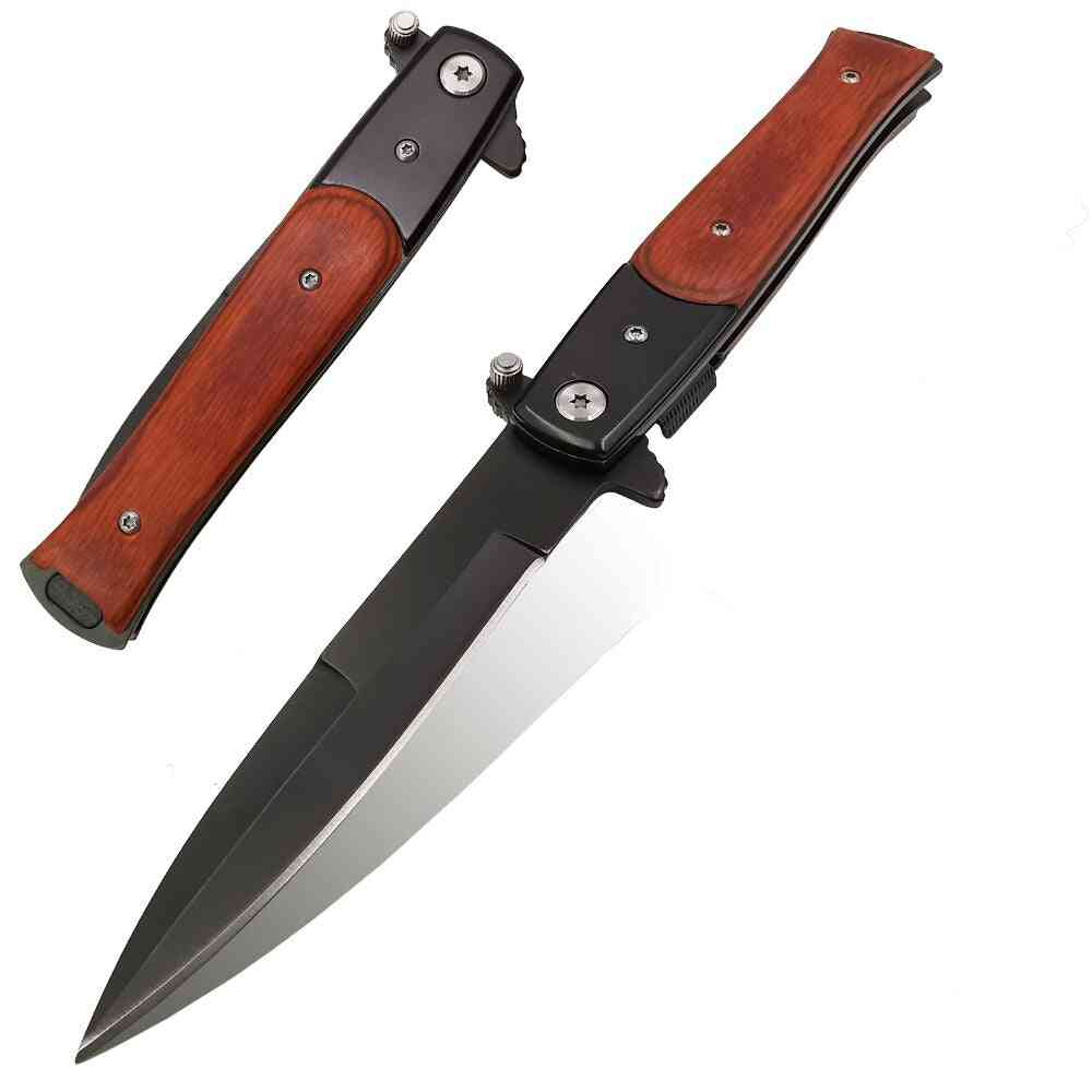 Blade Quick Open Outdoor Portable Pocket Camping Tactical Folding Knife