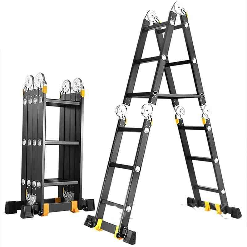 Multifunction Folding Aluminum Straight Lifting Ladder