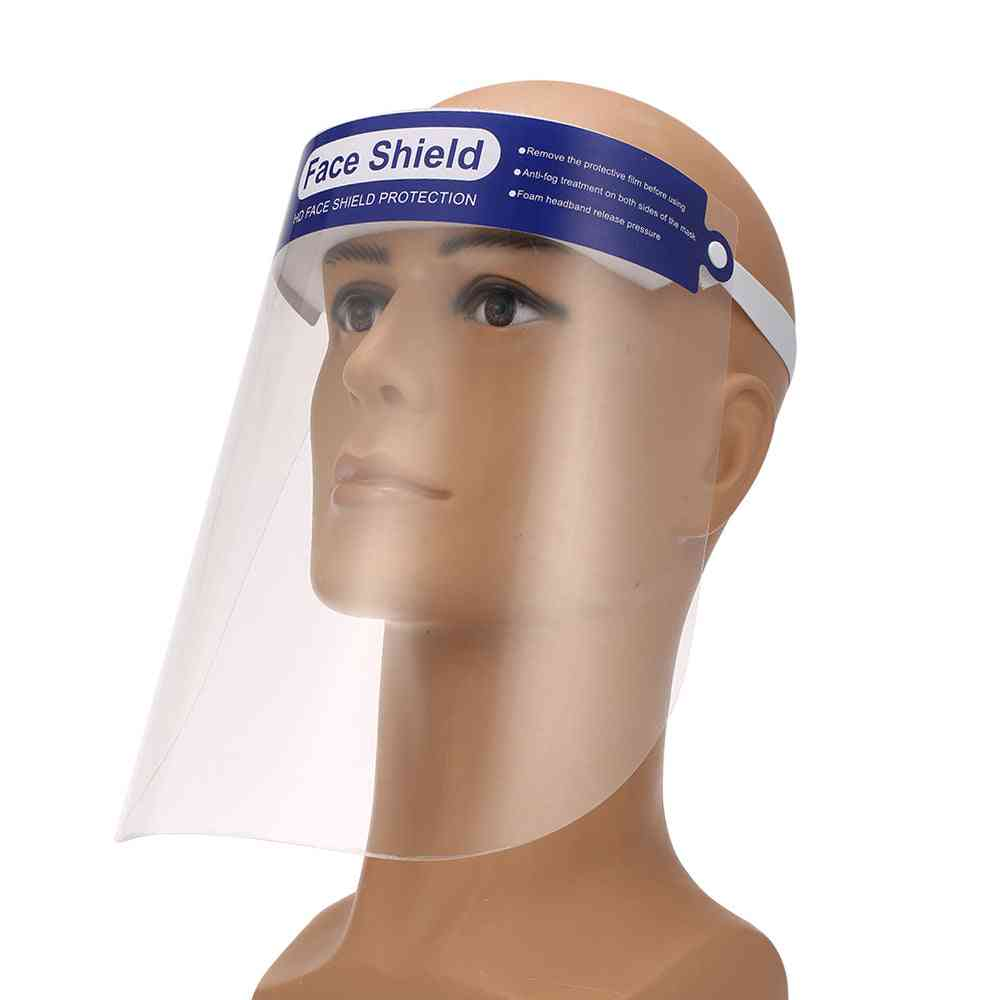 Anti-spitting, Fluid Resistant & Protective Transparent, Face Shield Mask